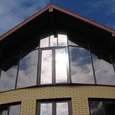 Панорамные окна в коттедже