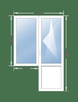 Балконный блок 1400x2050