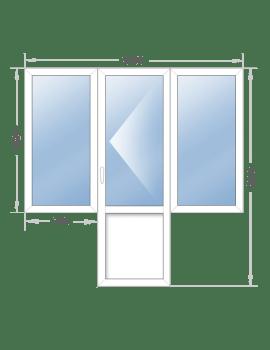 Балконный блок 2190x2200