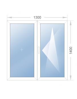 Двустворчатое окно 1300x1400