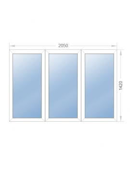 Окно глухое 2050x1420