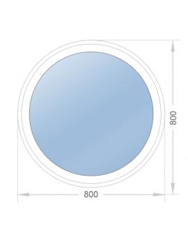 Круглое окно 800х800