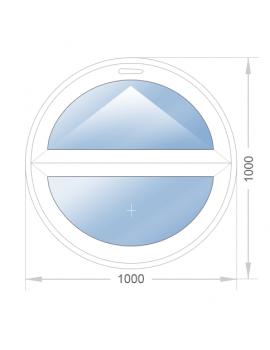 Круглое откидное окно 800x800