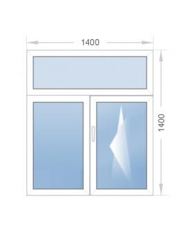 Окно с фрамугой 1400x1700