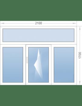 Окно с фрамугой 2100x1700