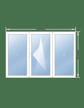 Трехстворчатое окно 1200x1400